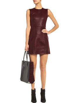 the-outnetleather-dress by t-by-alexander-wang