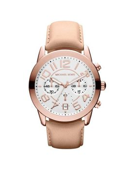 michael-kors-mercer-chronograph-white-dial-rose-gold-tone-steel-ladies-watch-mk2283 by michael-kors