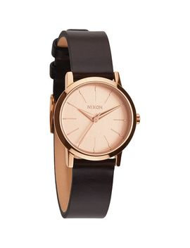 nixon-a398-1890-ladies-kenzi-leather-rose-gold-brown-watch by nixon