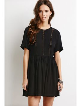 lace-paneled-smock-dress by forever-21