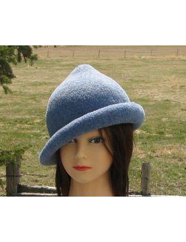 fleur-delacour-beauxbaton-academy-hat-harry-potter-heather-blue-knit-felt-special-order-only by montanaknitwitsfelts