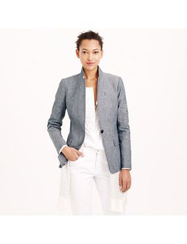 petite--blazer-in-chambray by jcrew