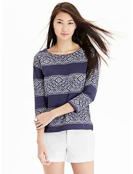 womens-patterned-stripe-terry-fleece-tops by old-navy