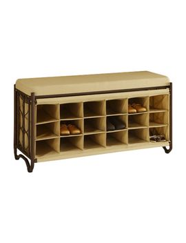 metal-storage-entryway-bench by oia