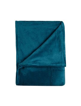 home-collection-basics---turquoise-fleece-throw by home-collection-basics