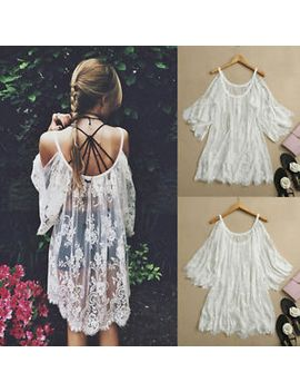 vintage-hippie-boho-embroidery-floral-lace-crochet-party-dress-tops-beach-cover by ebay-seller