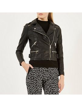 black-leather-look-biker-jacket by river-island