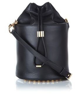 black-leather-bucket-bag by alexander-wang