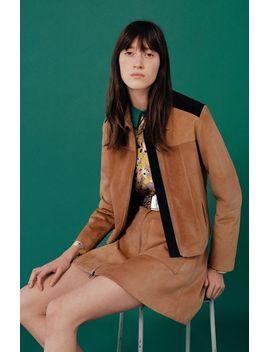front-zip-suede-skirt by topshop