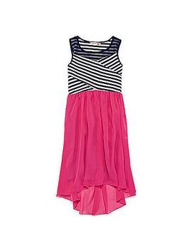 speechless®-high-low-hem-chiffon-dress---girls-7-16 by speechless
