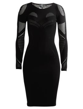 jersey-dress-with-mesh-inserts by mcq-alexander-mcqueen