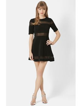 sheer-stripe-skater-dress by topshop