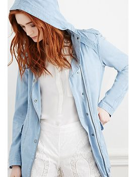 hooded-chambray-utility-jacket by forever-21