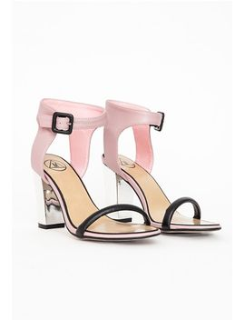 block-heel-contrast-heeled-sandals by missguided