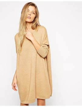 asos-jumper-dress-in-ripple-stitch by asos-collection