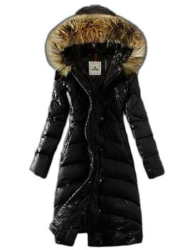 womens-lengthed-fur-trimmed-hood-light-down-outwear-coat-20(black,s) by cloudy-arch-women
