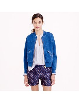 quilted-indigo-bomber by jcrew