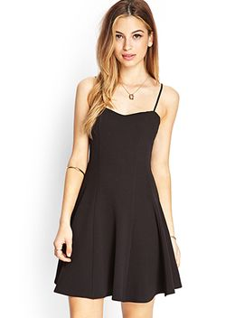 textured-knit-skater-dress by forever-21