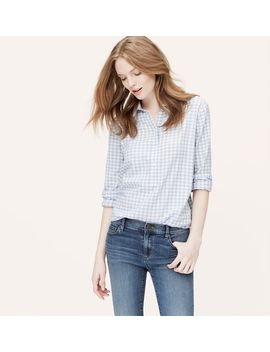 windowpane-tunic-softened-shirt by loft