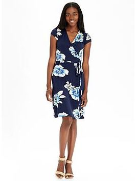 womens-wrap-front-jersey-dresses by old-navy