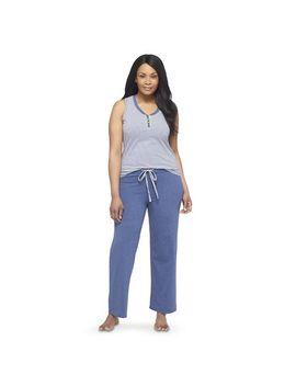 hanes®-premium-womens-plus-size-tank_knit-sleep-pants-pajama-set by hanes