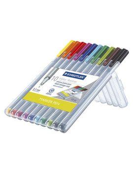 staedtler-10ct-black-fine-tip-felt-tip-marker-pen by staedtler
