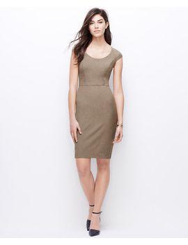 petite-all-season-stretch-cap-sleeve-sheath-dress by ann-taylor