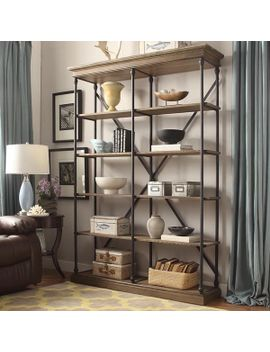 barnstone-cornice-double-shelving-bookcase-by-inspire-q-artisan by inspire-q