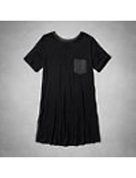 pocket-t-shirt-dress by abercrombie-&-fitch