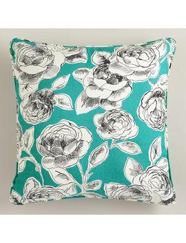 aqua-rosie-throw-pillow by world-market