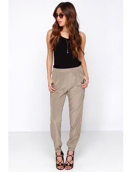 all-about-it-taupe-jogger-pants by lulus