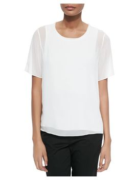 solid-blouse-with-sheer-overlay by vince