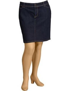womens-plus-denim-pencil-skirts by old-navy