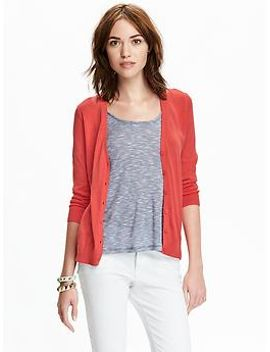 womens-3_4-sleeved-v-neck-cardigans by old-navy
