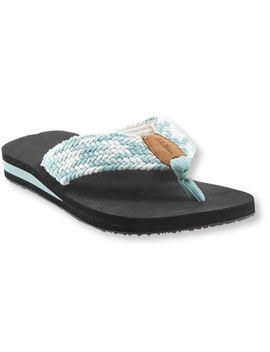 womens-maine-isle-flip-flops,-woven-multi by llbean