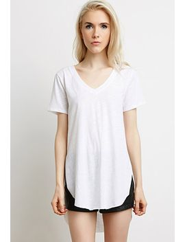 side-slit-v-neck-tee by forever-21