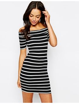 new-look-striped-off-the-shoulder--bodycon-dress by new-look