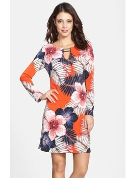 tropical-print-jersey-shift-dress by vince-camuto
