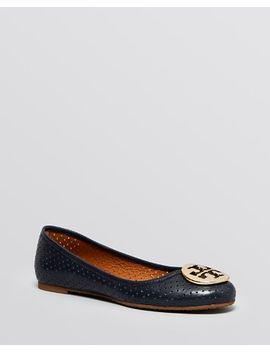 logo-ballet-flats---reva-perforated by tory-burch