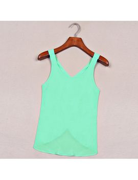 2015-spring-summer-women-clothing-solid-candy-color-casual-lady-shirts-sexy-backless-strap-chiffon-blouse-tops-3xl by ali-express