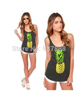 2014-summer-new-pineapple-printed-sleeveless-casual-slim-fit-vest-women-t-shirt-tops-s1544 by ali-express