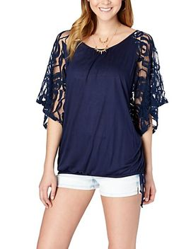 lace-trim-bubble-top by rue21