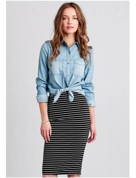 earn-your-stripes-pencil-skirt by ruche