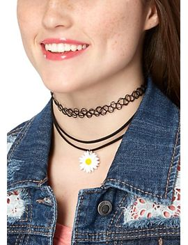 retro-daisy-choker-set by rue21