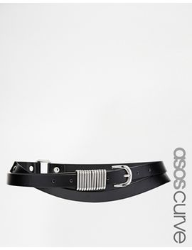 asos-curve-double-wrap-waist-belt-with-metal-detail by asos-curve