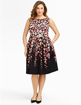 gladiola-print-sateen-dress by talbots