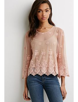 embroidered-floral-mesh-top by forever-21