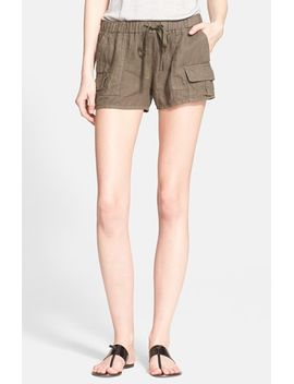 ilya-linen-cargo-shorts by joie