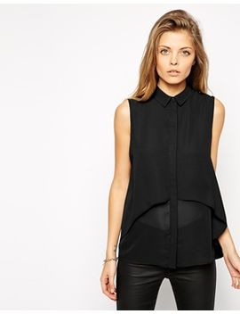 asos-double-layer-sleeveless-blouse by asos-collection