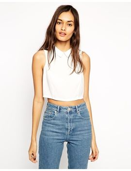 asos-crop-top-with-collar-detail by asos-collection